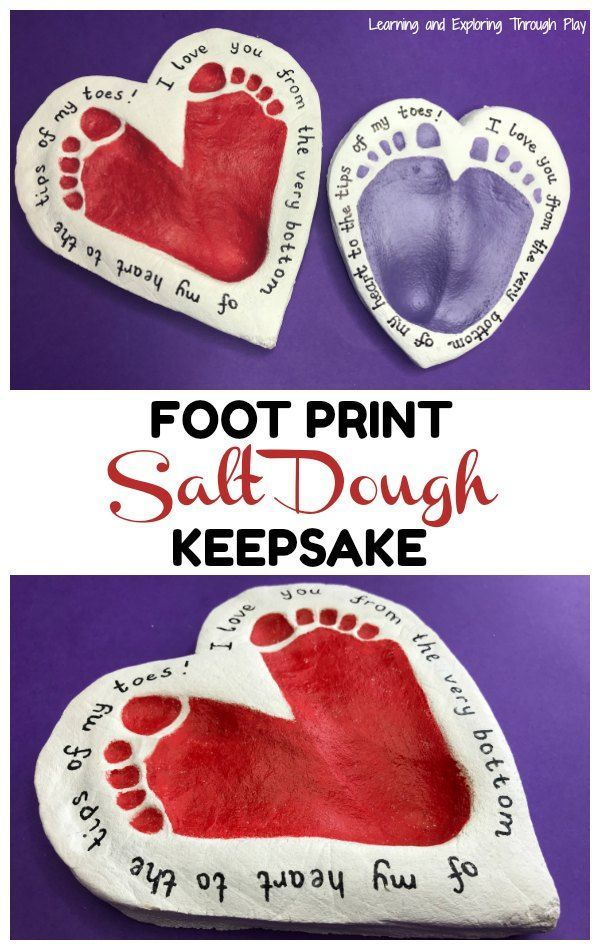 Heart Foot Print Keepsake