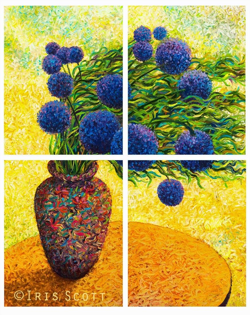 iris scott finger painting | ... -Hydrangea-Iris-Scott-Finger-Painting-Fine-Art-www-designstack-co