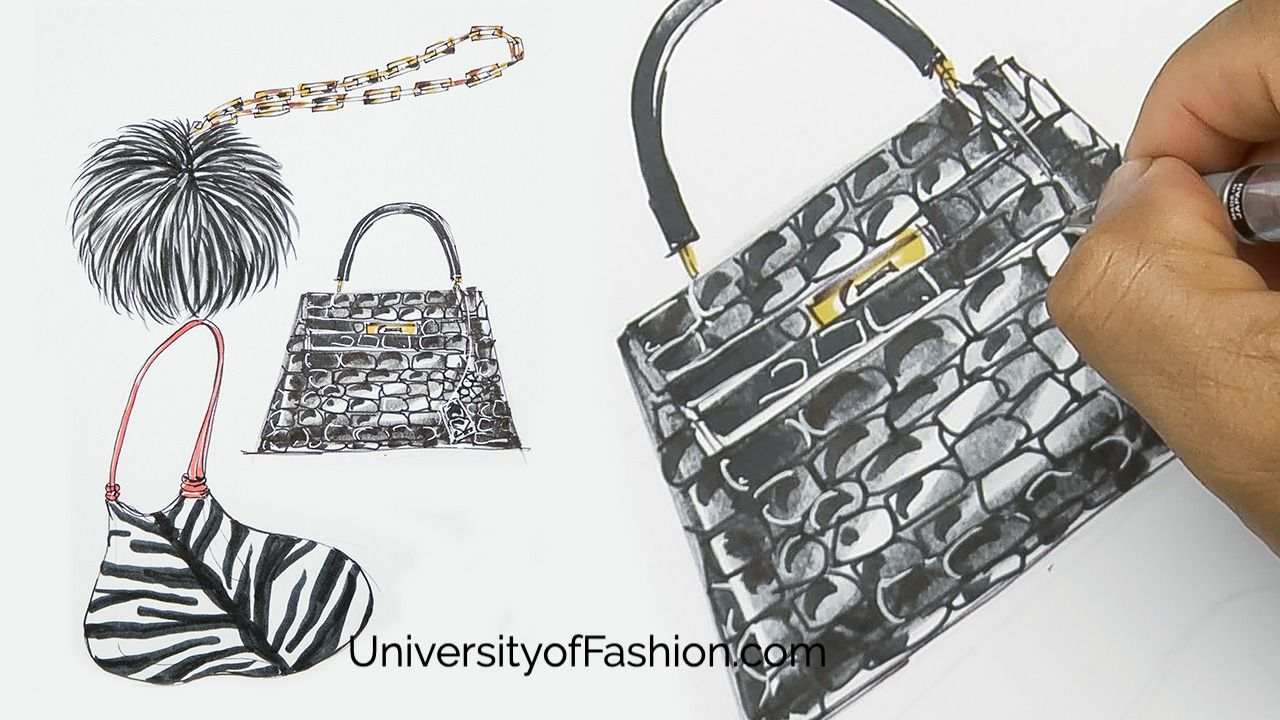 Learn How To Design And Illustrate Handbags At Universityoffashion Com Accessories Design University Style Design