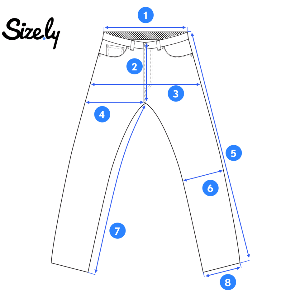 How To Measure Jeans Mens Pants Size Chart Hacking Jacket Pants