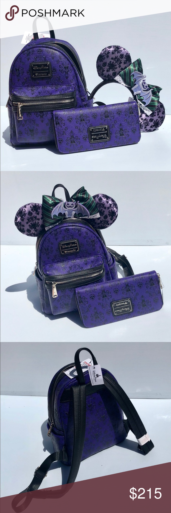 a09da52d57b Haunted Mansion Mini Backpack Set - Loungefly Disney Parks Exclusive Haunted  Mansion Backpack and Wallet by