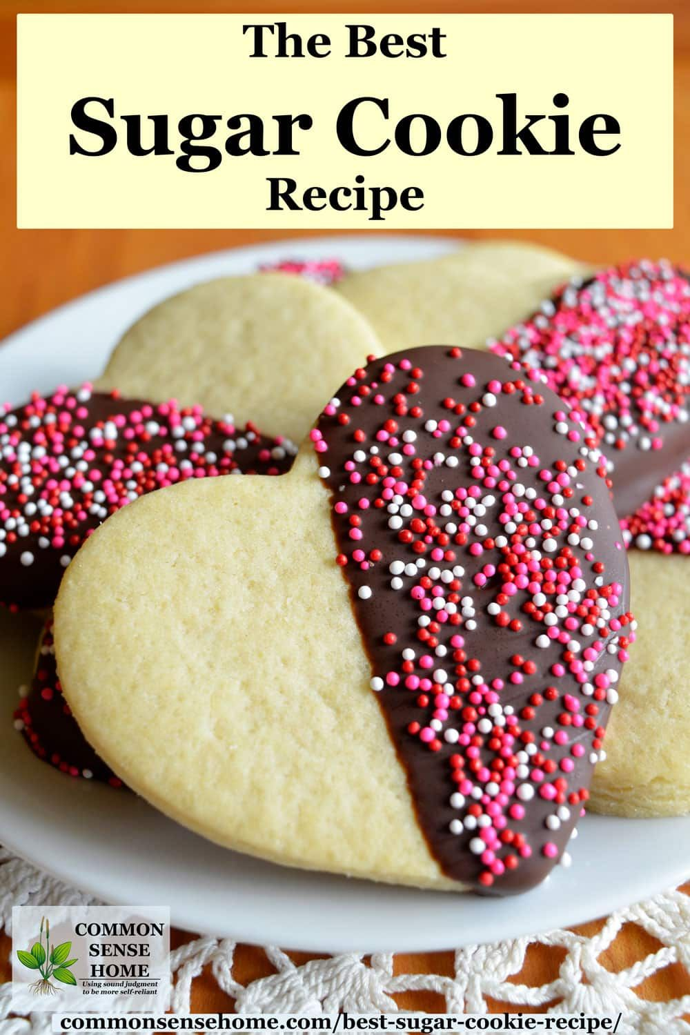 The Best Sugar Cookies #sugarcookies