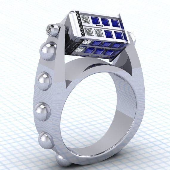 Exceptionnel Doctor Who Spin Doctor TARDIS Pendant & Ring | Fiancailles, Star  MI87