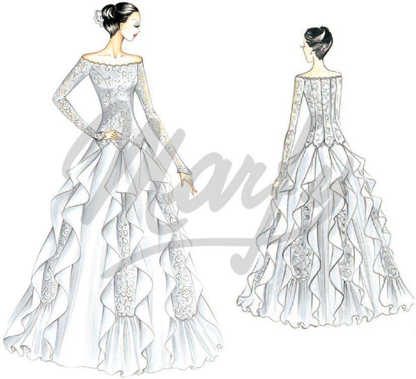 Modèle S878 | Patron Couture Robe Mariée … | Pinteres…