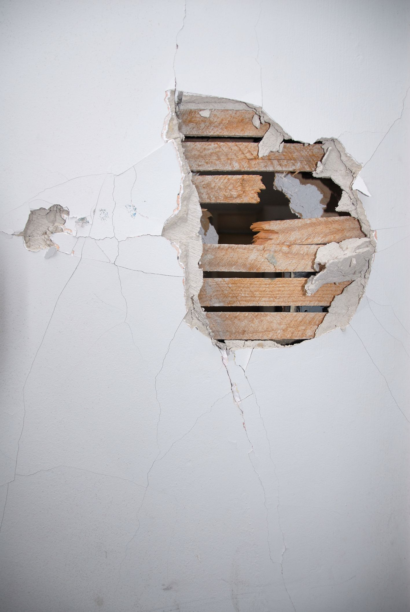 How to fix small holes in drywall break wall plaster