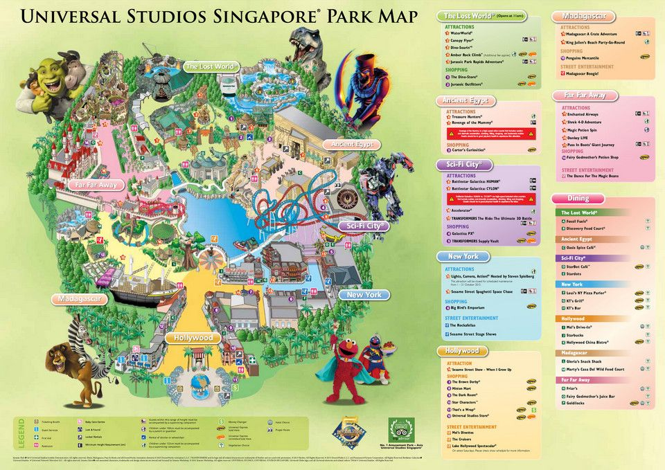 Universal Studios Singapore Map 2018 From Altheramedical 1