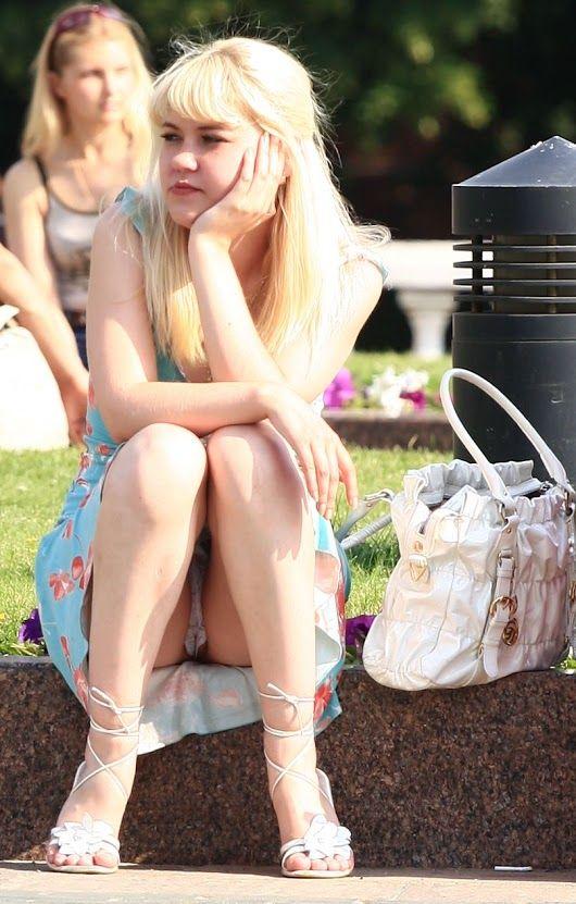 Blond Hair Upskirt