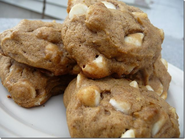 my mom makes these this time of year, every year. its the only thing pumpkin i actually like! (pumpkin macadamia nut and white chocolate chip cookies)
