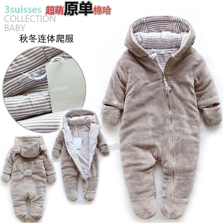 1b686bea4 Free shipping Retail new 2013 autumn winter romper baby clothes kids cotton  bodysuits baby overalls newborn baby boy warm romper-inBoys from.