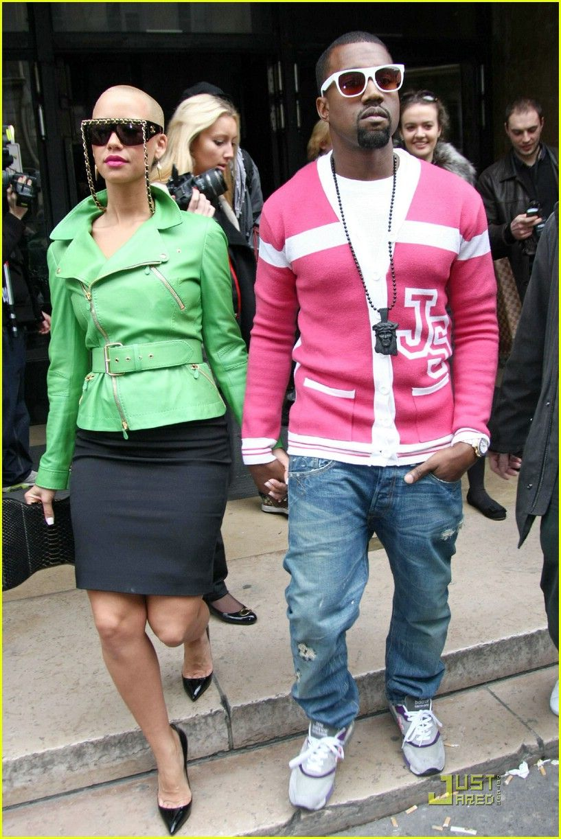 May 2010 Kanye West Style Amber Rose Rose Fashion
