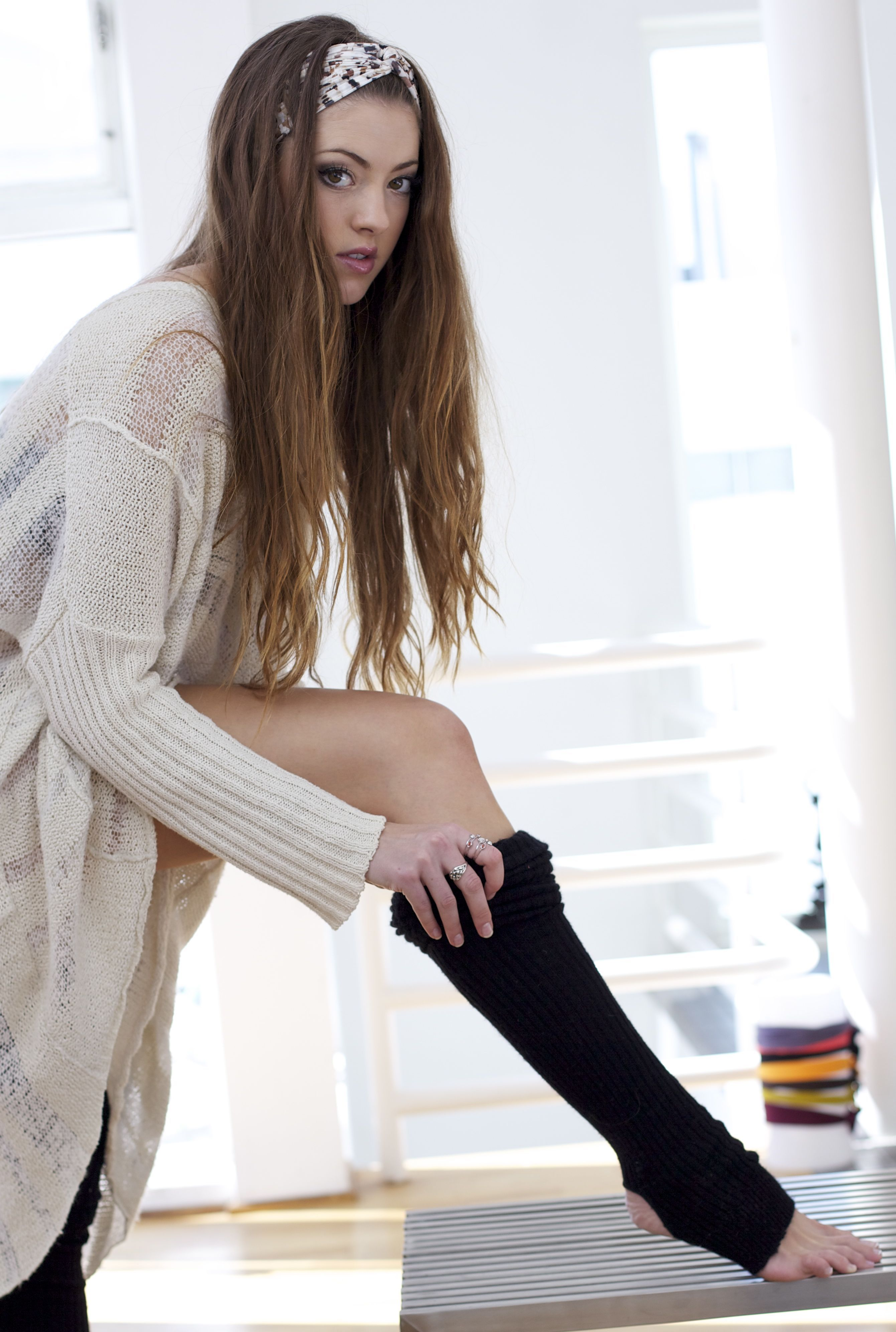 Slip into something surprisingly sexy. Oversized sweater, thigh ...