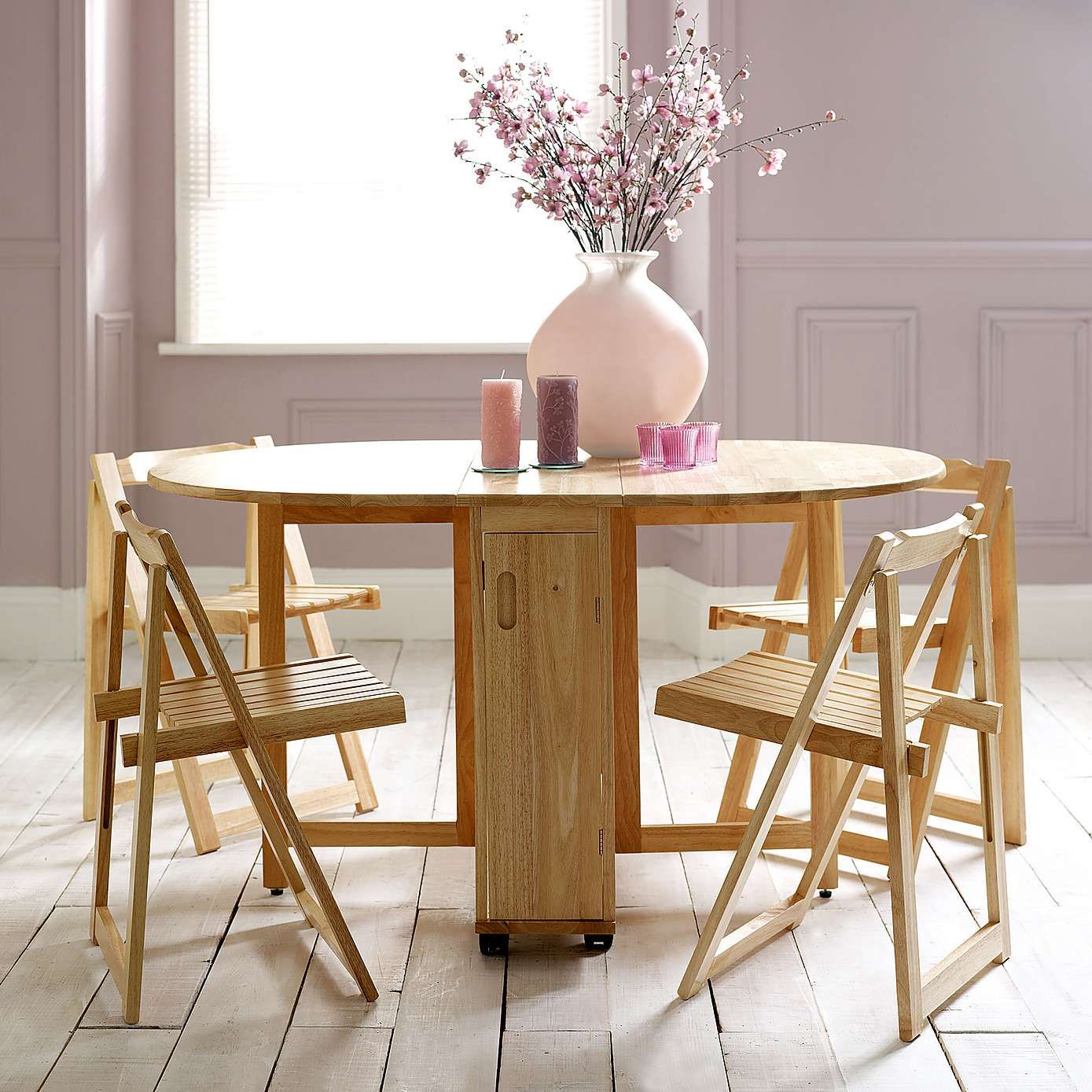 Rubberwood Butterfly Table With 4 Chairs Dunelm Small Table