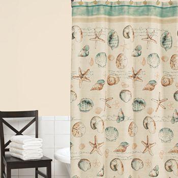 Home Classics Sea Splash Fabirc Shower Curtain Beach Shower