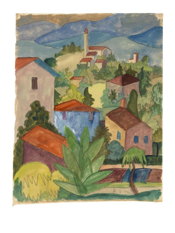 Hermann Hesse Landschaft Im Tessin 1924 Hermann Hesse