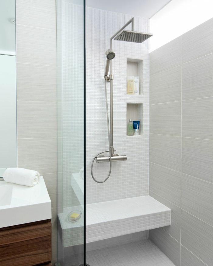 Platos de ducha de obra ba o peque o mampara de vidrio - Banco de bano ...