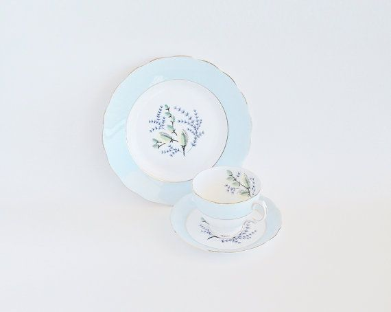 COLCLOUGH Pussy Willow Tea Trio Bone China by SunshineSurprises