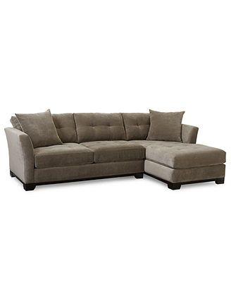 Elliot Fabric Microfiber 2 Piece Chaise Sectional Sofa Sectional Sofas Furniture Macy S Sectional Sofa 2 Piece Sectional Sofa Sectional Sofa Couch