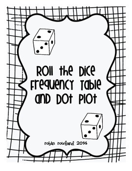 Roll The Dice Frequency Table And Dot Plot  Bar Graphs Math And