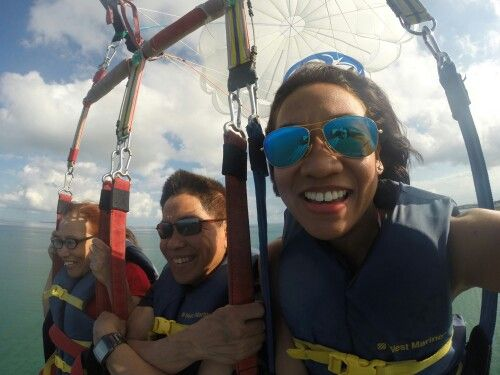 Parasailing in Key West... it's the parents' first time