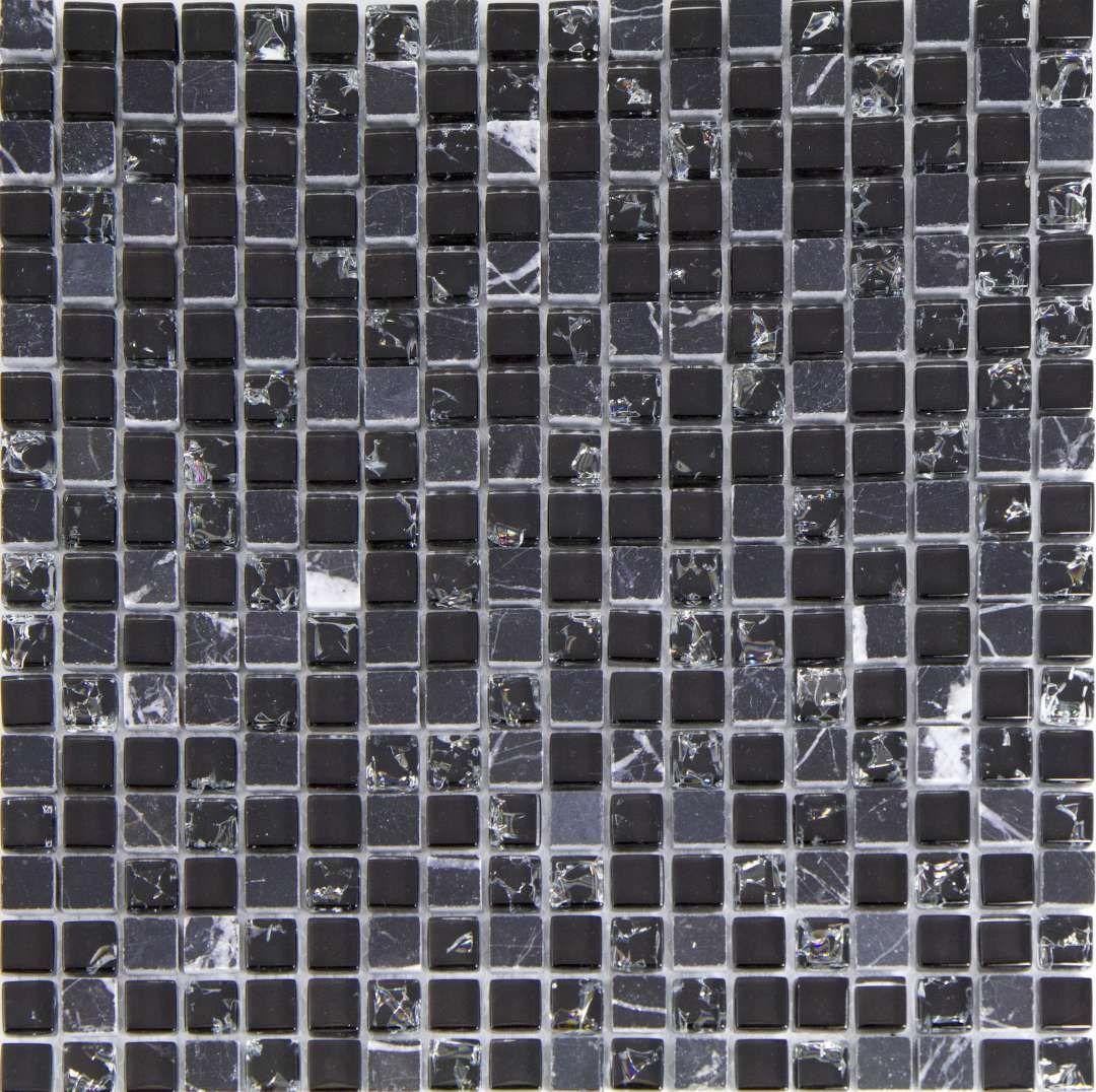 10sf Black Pattern Metallic Glass Marble Stone Mosaic Tile Kitchen Backsplash Floor Wall Tiles Home Garden Pumpenscout De
