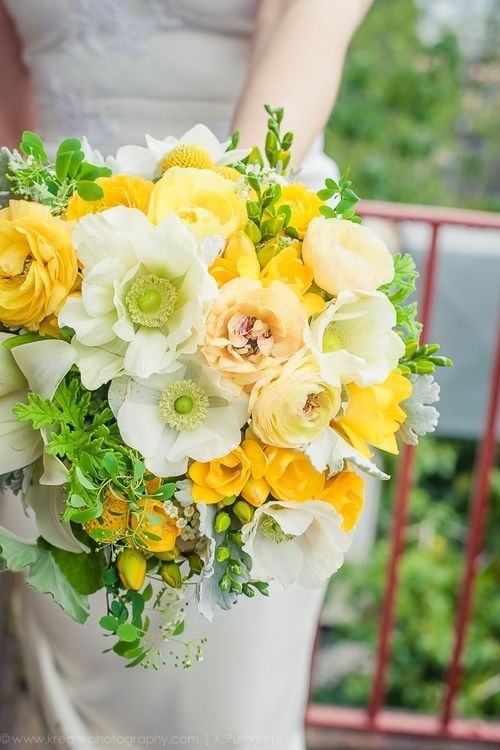 Wallflower Design - yellow and white bridal bouquet | Flowers ...