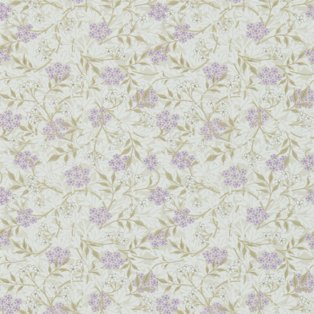 Jasmine Wallpaper Lilac/Olive (214723) William Morris