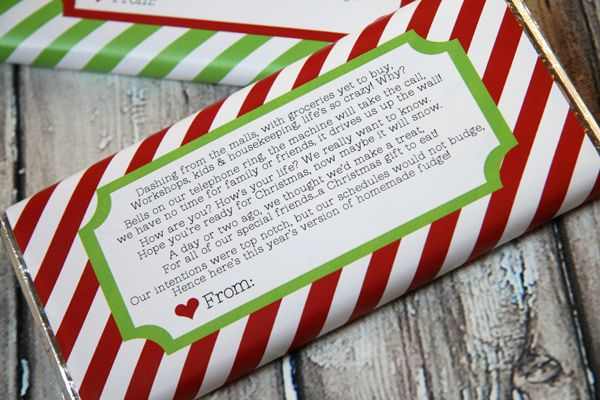 Printable candy wrapper from Our Best Bites