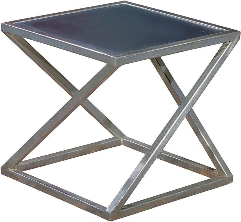 Art Deco Beistelltisch Schwarz Metall Holzwerkstoff Couchtisch Holzwerkstoff Beistelltisch