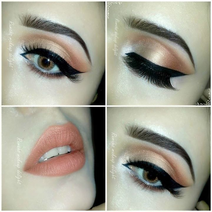 Easy Bridal Makeup Steps : Peach #EyeShadow to make your eyes look natural ...