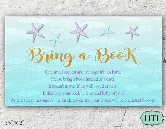 Baby Shower Book Card Request Bring a book by Hottomatoink2 Hot - baby shower message