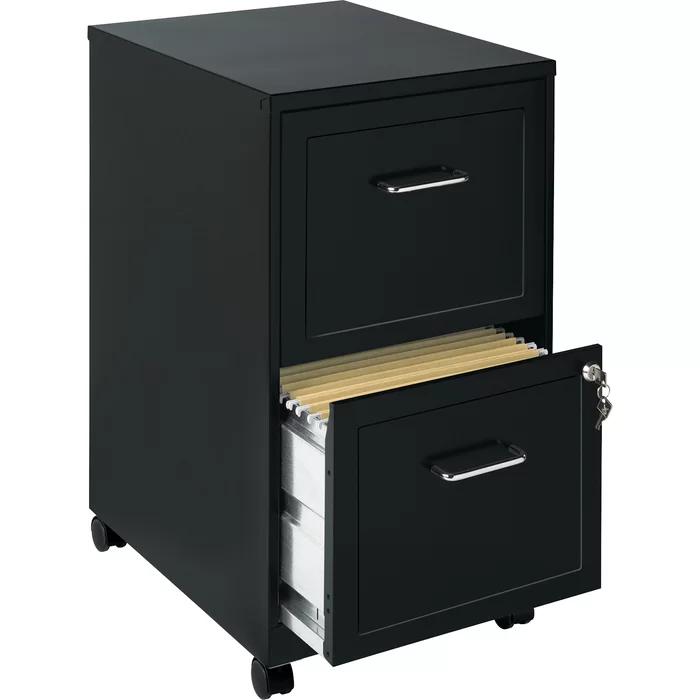 Carson 18 2 Drawer Mobile Vertical Filing Cabinet Filing Cabinet Mobile File Cabinet Drawers