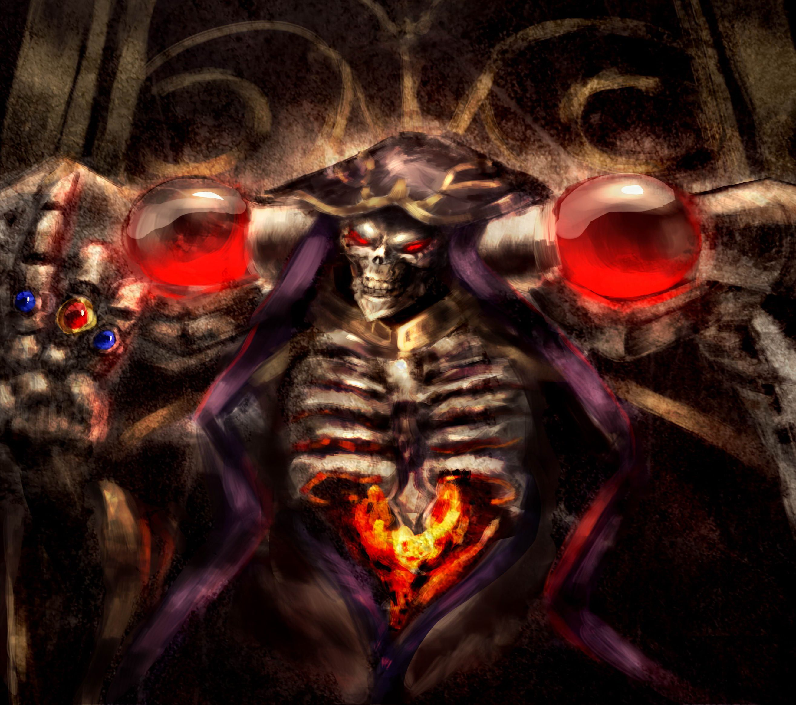 Ainz Ooal Gown Computer Wallpapers Desktop Backgrounds 2630x2330 Id 655498 Anime Wallpaper Anime Anime Movies