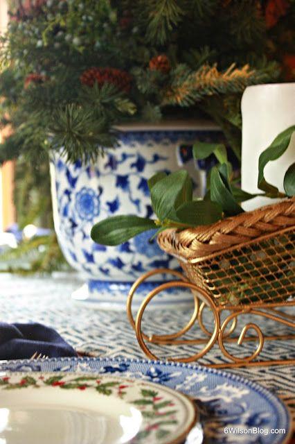 6 Wilson Blue and White Christmas Christmas Inspiration Pinterest