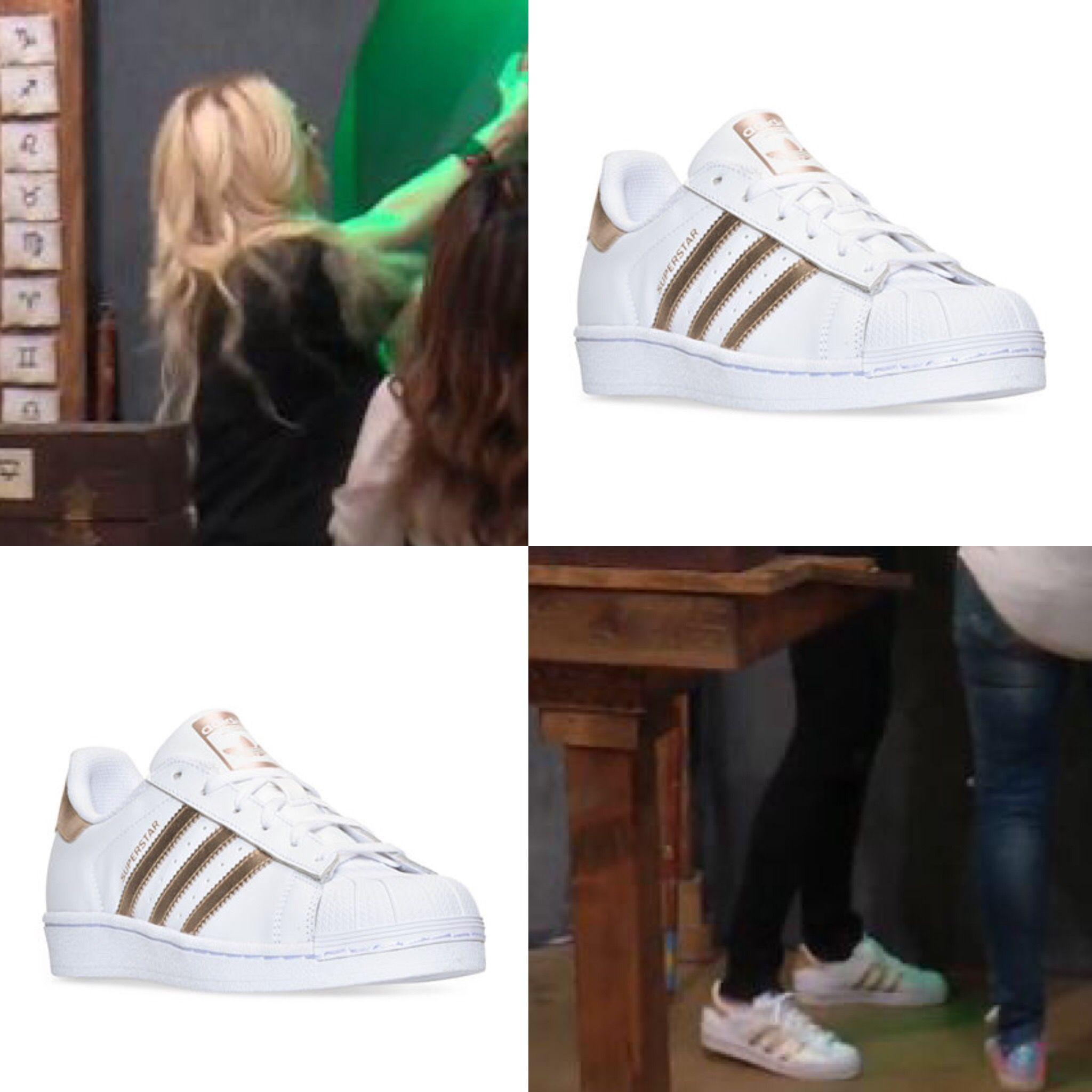 Erika Girardi's Gold Adidas Sneakers