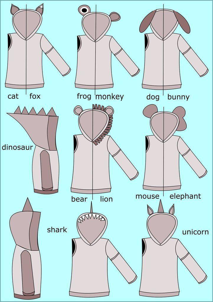 Photo of All Ears Hoodie Sewing Pattern (PDF)