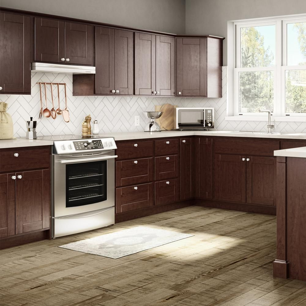 Princeton Base Cabinets In Java Kitchen The Home Depot Espresso Kitchen Cabinets Kitchen Remodel Kitchen Renovation