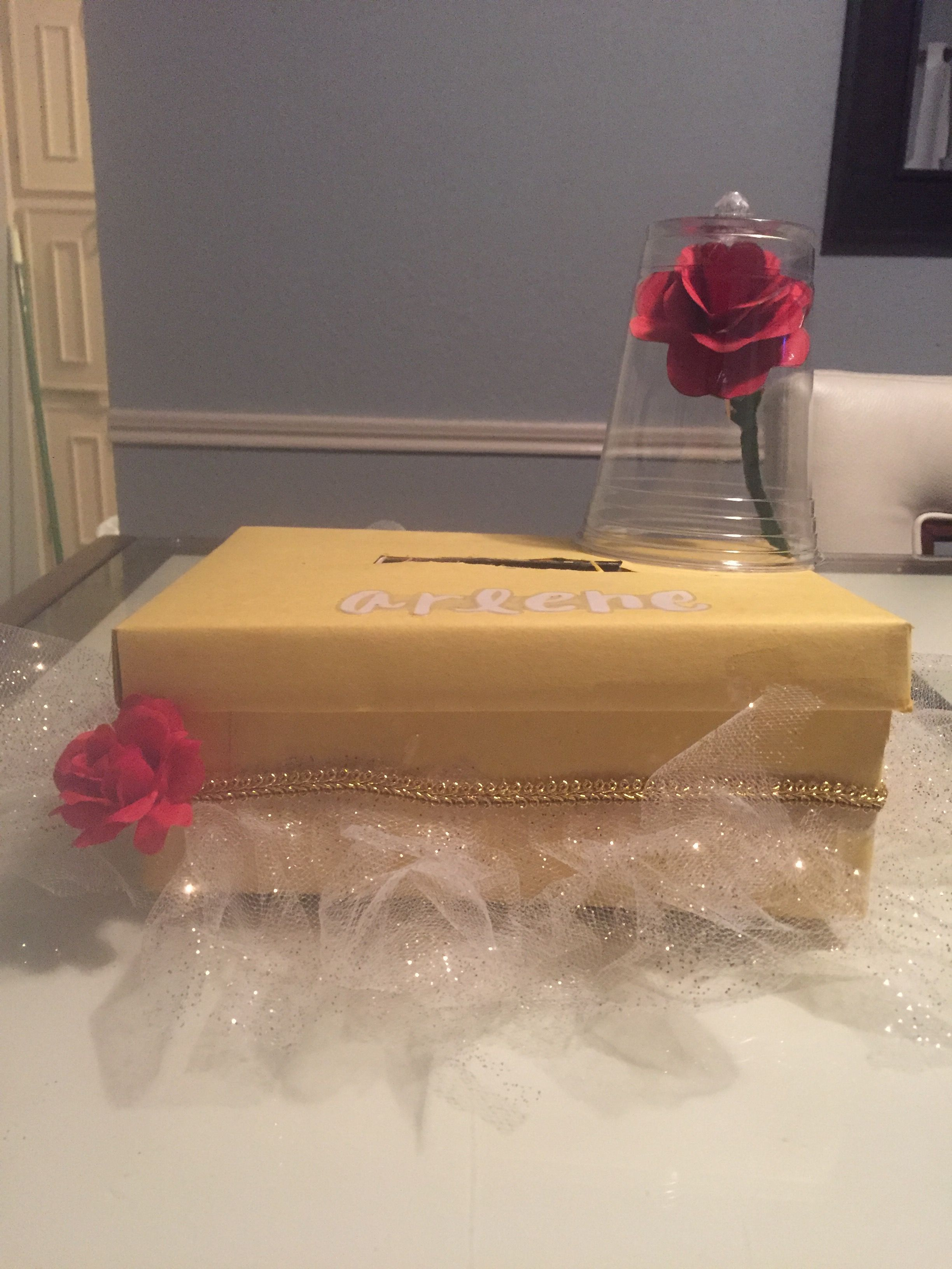 belle beauty and the beast valentine box by arlene made by rh pinterest com