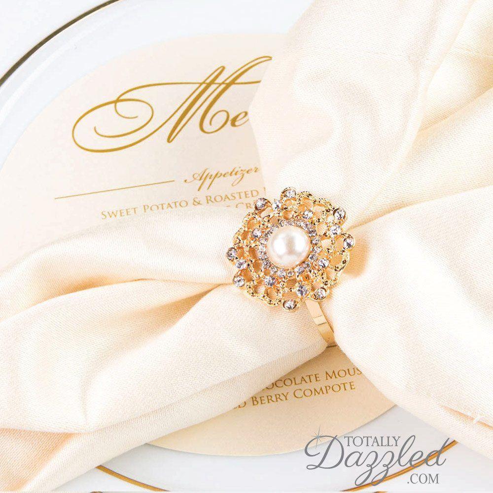 Giveaway Win Rhinestone Napkin Rings Napkin rings Wedding