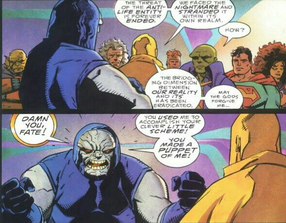 Darkseid confronts Dr. Fate