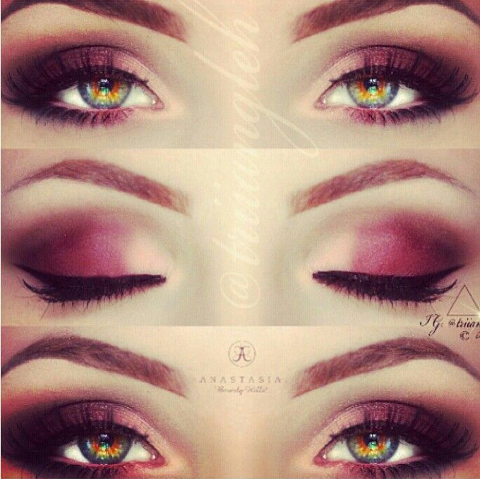 Perfect Makeup For Hazel Eyes A Deep Plum Shade Just Amazing For