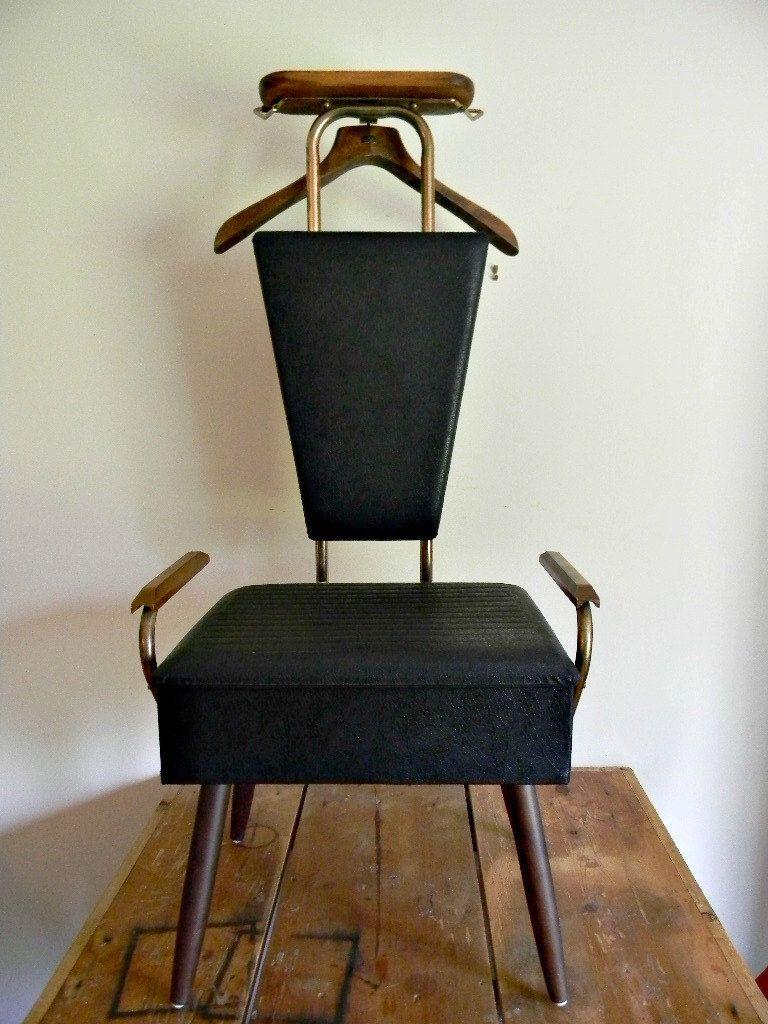 mens valet chair bean bag with ottoman gentleman s dressing vintage 80 00 via etsy