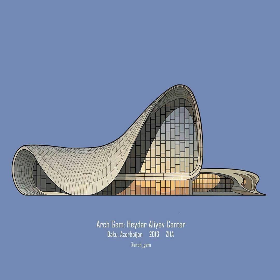 Architecture Art On Instagram Which One Is Your Favorite 1 Heydar Aliyev Center Zaha Hadid Architect Arquitectura Decoracion De Unas Disenos De Unas