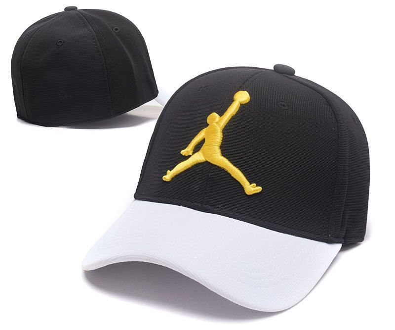 0e674c927b0 Mens   Womens Nike Air Jordan The Jumpman 3D Embroidery Logo 6 Panel  Fashion Strap Back Adjustable Polo Cap - Black   White