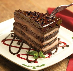 Triple Chocolate Strata Cake From Olive Garden Food Pinterest Gardens And