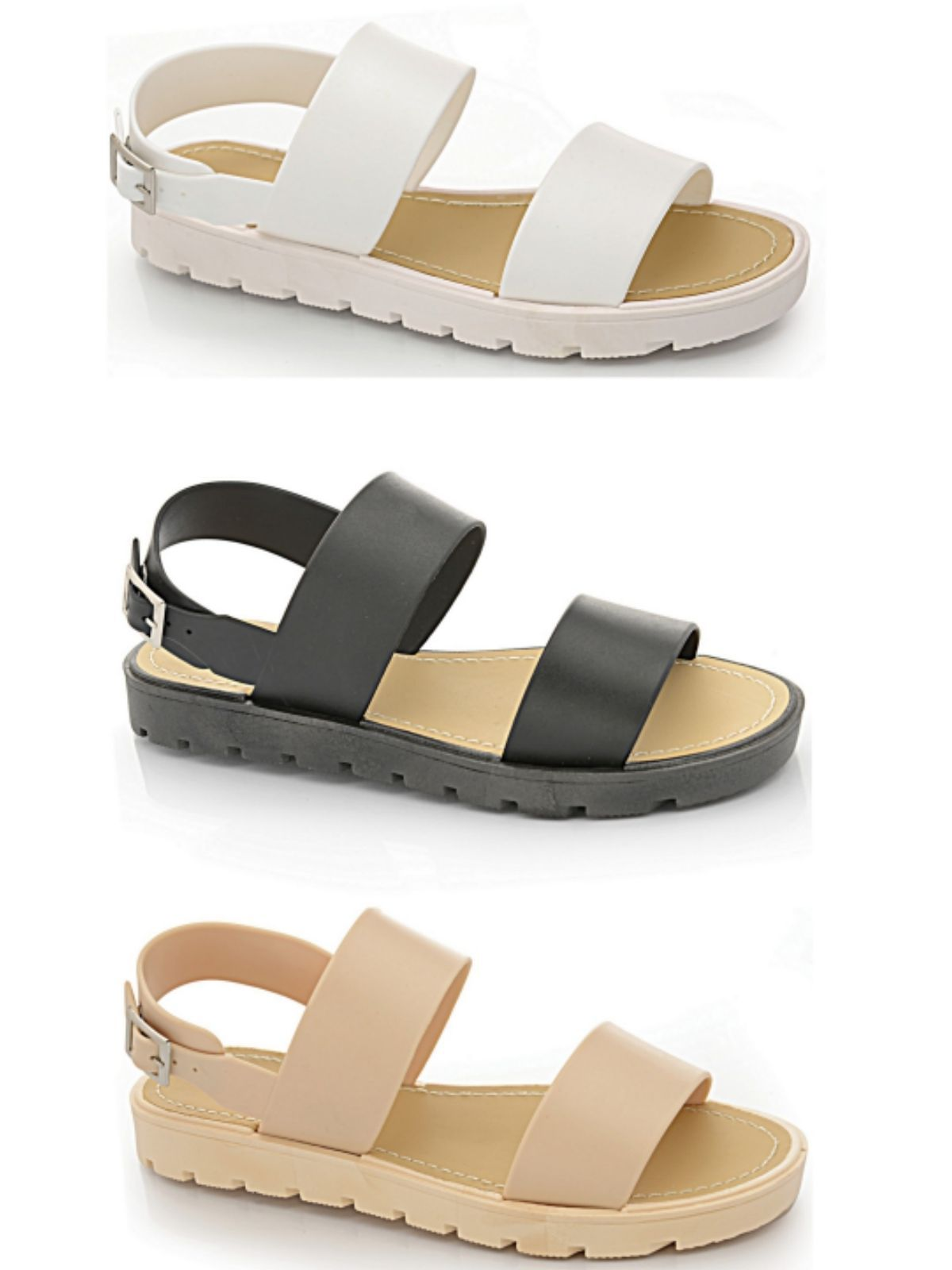 10c767857 Ladies Girls Peep Toe Flat Strappy Jelly Fashion Gladiator Holiday Beach  Sandal