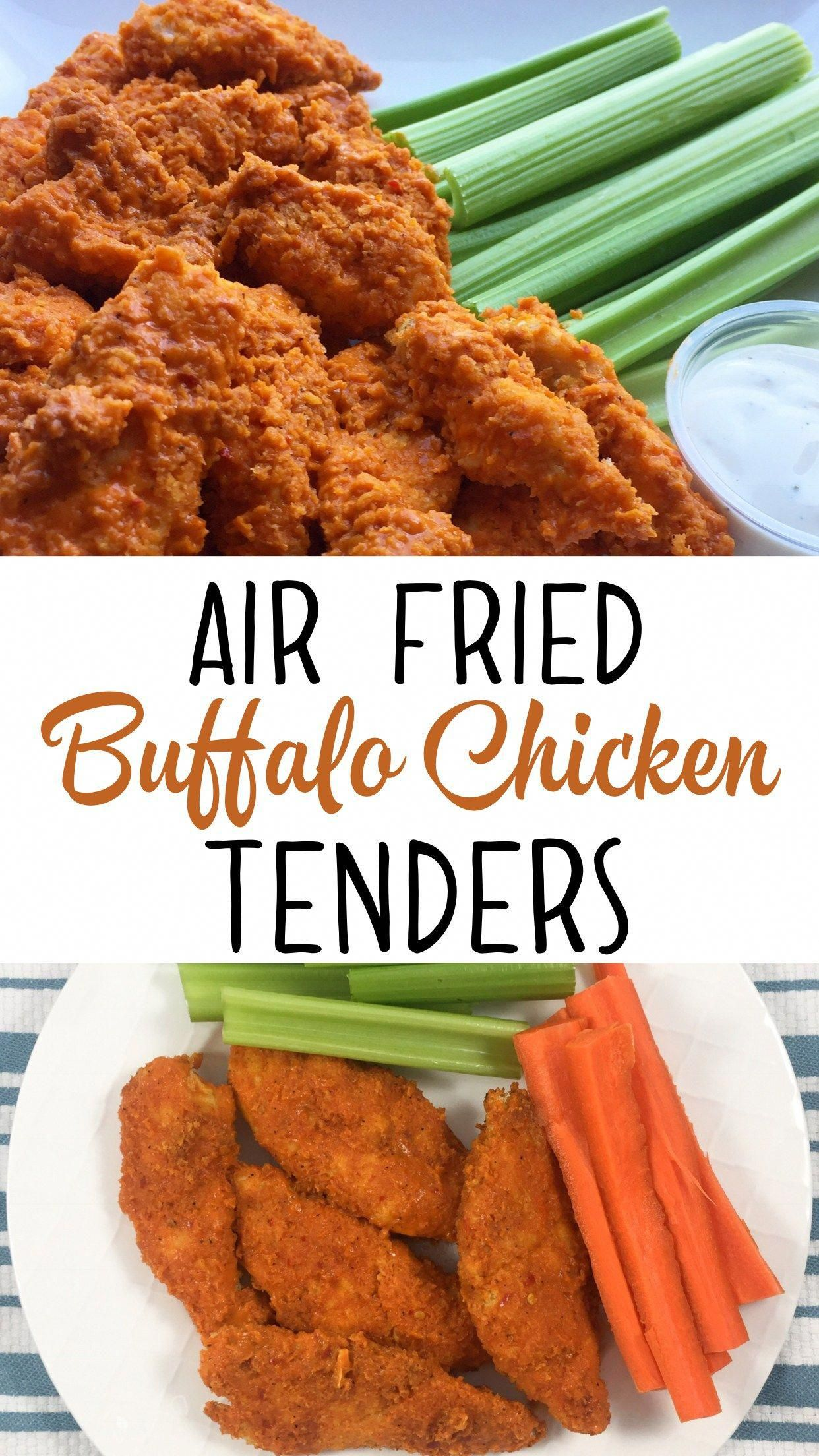 A healthy buffalo chicken recipe for your air fryer. It's quick, easy and SO delicious!