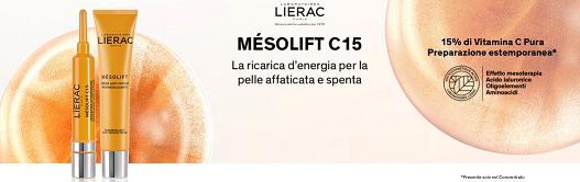 Diventa Tester Lierac Mésolift C15 con MyBeauty