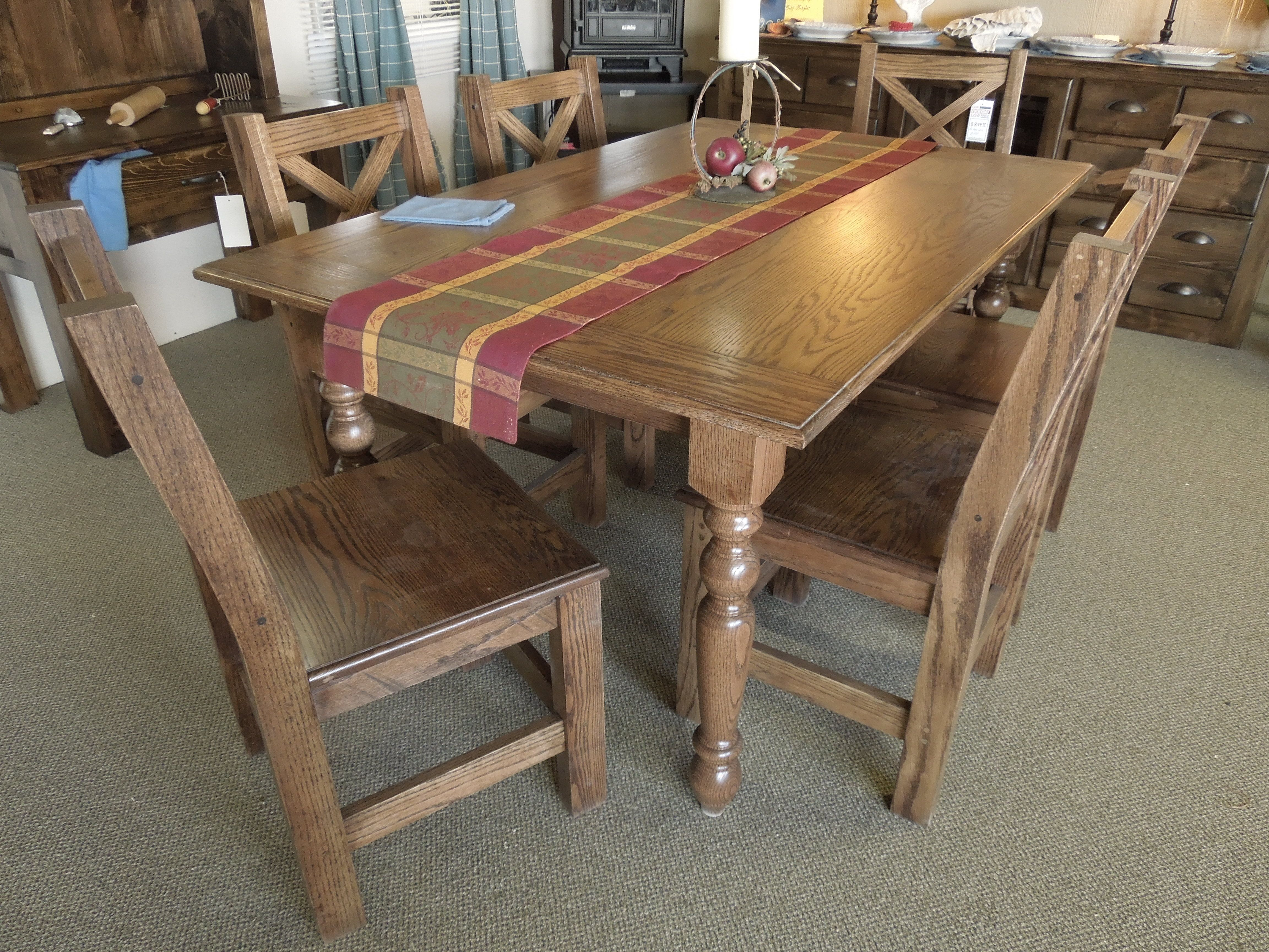 Beautiful Red Oak Table Featuring Tapered Dining Legs Inside Measurements 1536 X 2048 Kitchen The Ideal Choice Of A Is