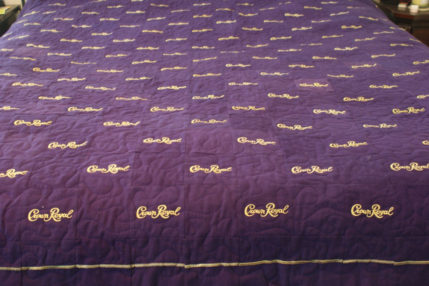 Man Cave Quilt Pattern : Crown royal quilt custom made to order man cave