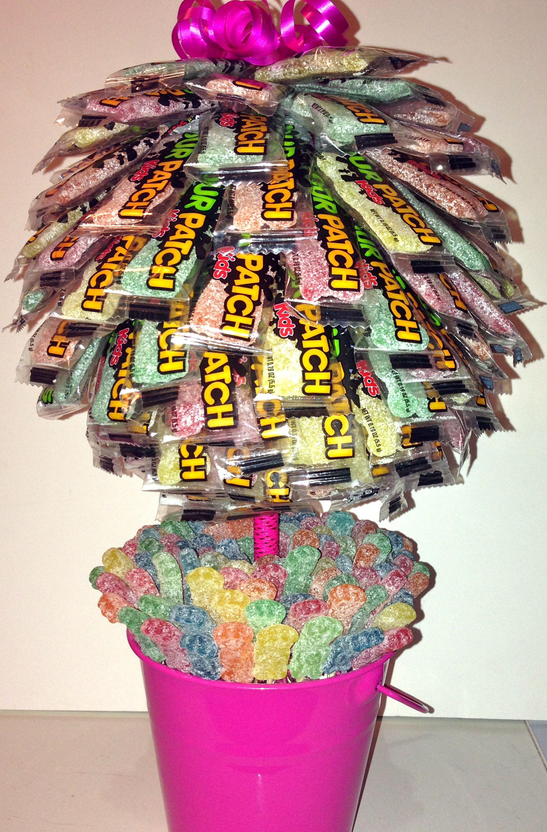 Pin By Tiana Agathos On Candy Topiary By T Sour Patch Kids Gift Diy Gifts For Kids Sour Patch Kids